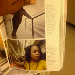 Is in the Humans of New York book with a picture from 2010 spitting on the subway. whatev.