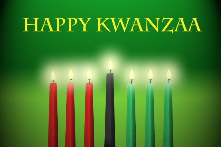 The men and women of the 434th Air Refueling Wing at Grissom wish everyone a happy Kwanzaa. Kwanzaa is a seven-day holiday, which celebrates family and Africa-American heritage. It is celebrated by many from Dec. 26-Jan. 1. (U.S. Air Force graphic/Senior Airman Damon Kasberg)